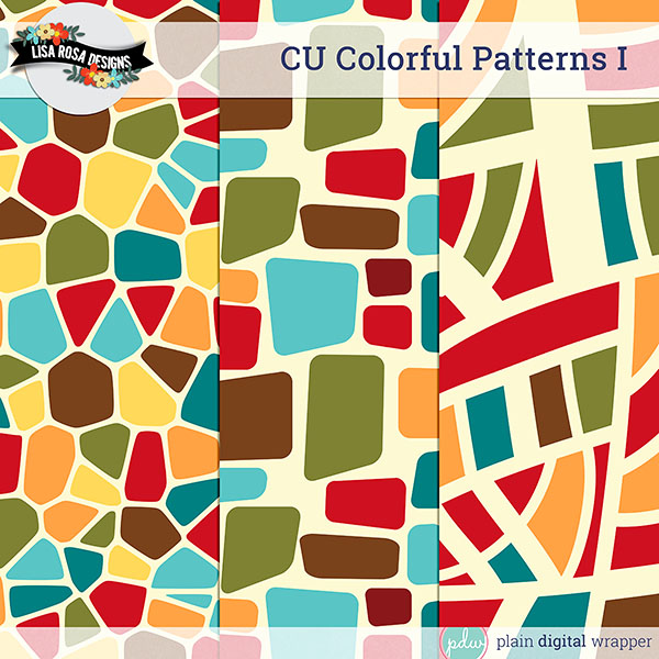 Digital Scrapbook Commercial Use Layered Patterns Preview