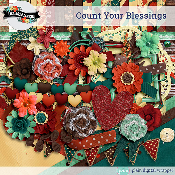 Digital Scrapbook Kit Count Your Blessings Preview