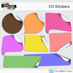 Commercial Use Digital Scrapbook Layered Stickers Templates Preview