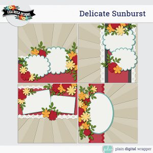 Digital Scrapbook Page Template Preview
