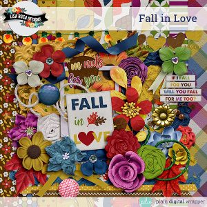 Digital Scrapbook Kit Fall in Love Preview