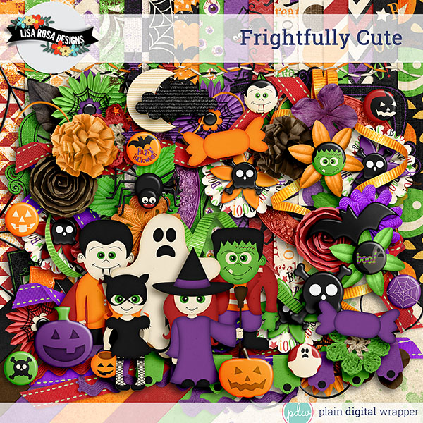 Digital Scrapbook Kit Frightfully Cute