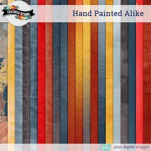 Digital Scrapbook Hand Painted Alike Solid Papers Preview