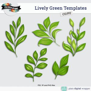 Commercial Use Digital Scrapbook Foliage Layered Templates