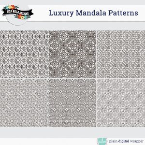 Commercial Use Digital Scrapbook Luxury Mandalas Patterns Preview