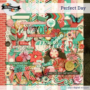 Digital Scrapbook Kit Perfect Day Preview
