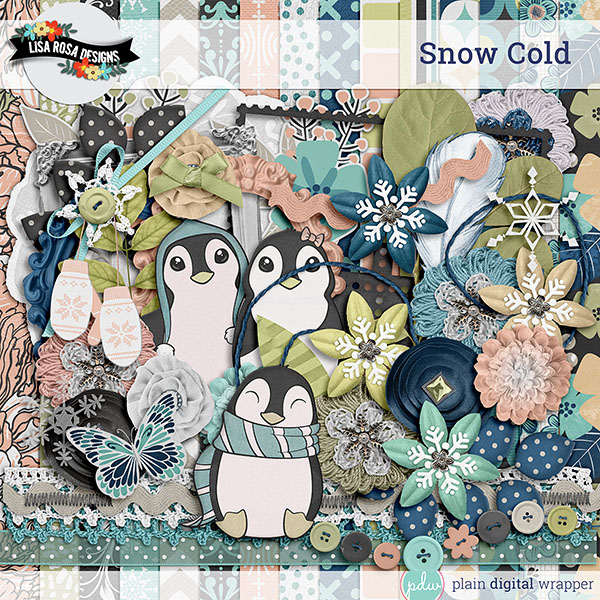 Digital Scrapbook Kit Snow Cold Preview