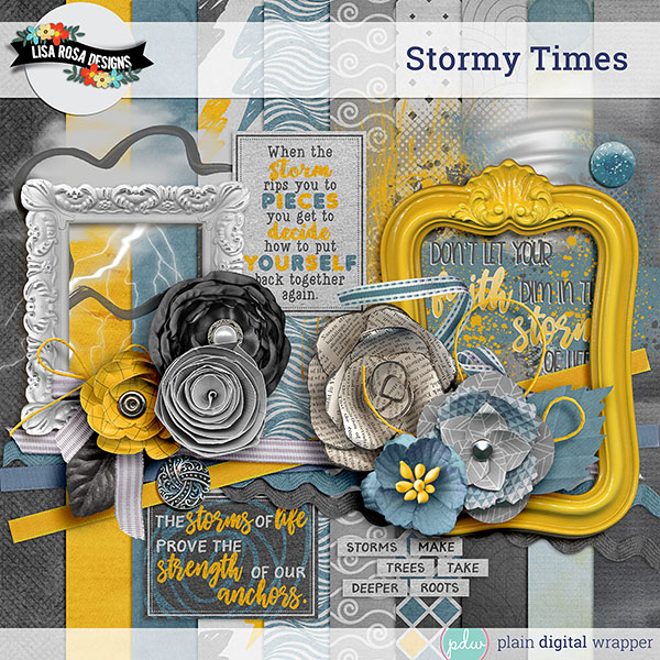 Digital Scrapbook Kit Stormy Times Preview