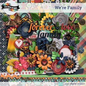 Digital Scrapbook Kit We're Family Preview