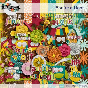 Digital Scrapbook Kit You're a Hoot Preview