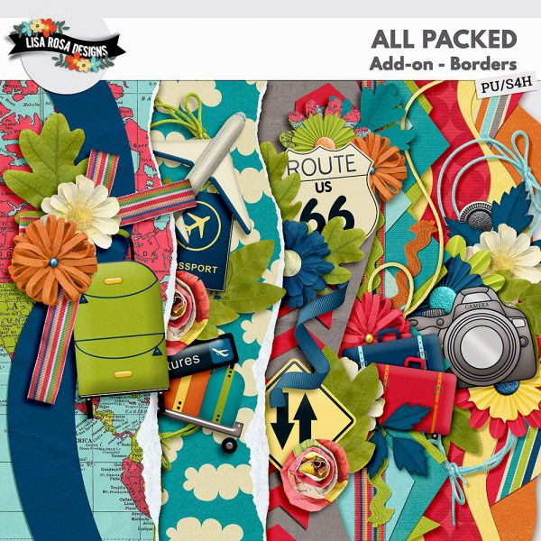 All Packed Digital Scrapbooking Page Kit by Lisa Rosa Designs available at Digital Scrapbooking Studio
