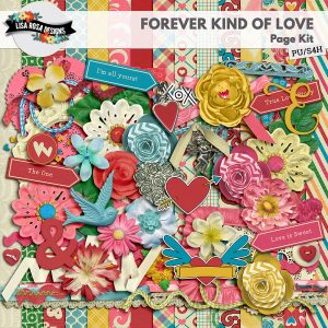 Forever Kind of Love Digital Scrapbooking Page Kit by Lisa Rosa Designs available at Digital Scrapbooking Studio