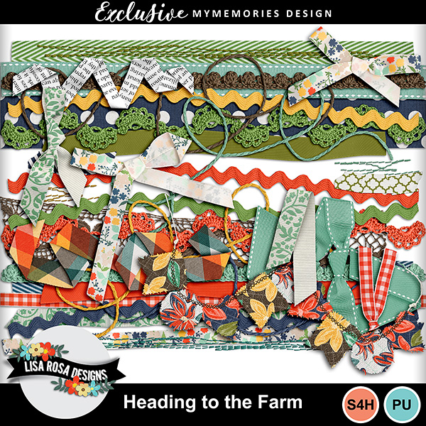Heading to the Farm - Digital Scrapbook Page Kit by Lisa Rosa Designs