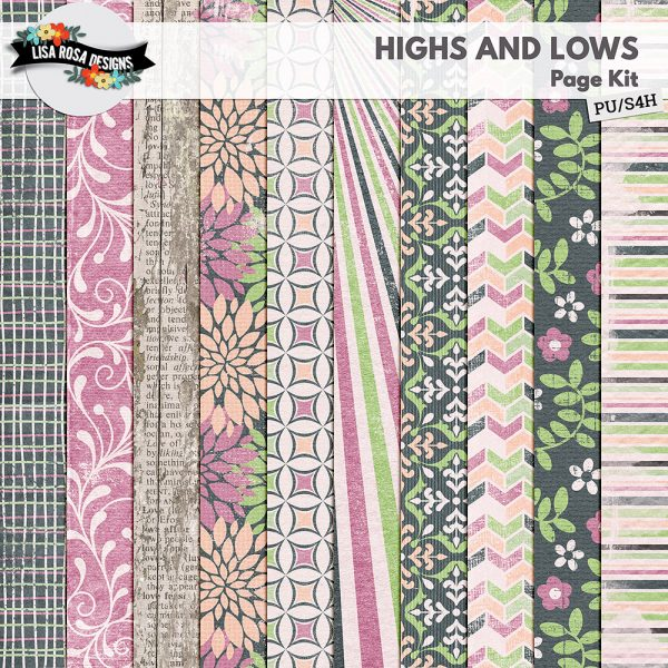 Highs & Lows Digital Scrapbooking Page Kit by Lisa Rosa Designs available at Digital Scrapbooking Studio