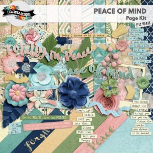 Peace of Mind Digital Scrapbooking Page Kit by Lisa Rosa Designs available at Digital Scrapbooking Studio