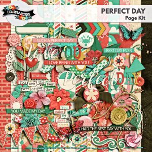 Perfect Day Digital Scrapbooking Page Kit by Lisa Rosa Designs available at Digital Scrapbooking Studio