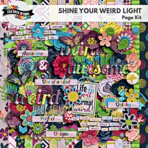 Shine Your Weird Light Digital Scrapbooking Page Kit by Lisa Rosa Designs available at Digital Scrapbooking Studio