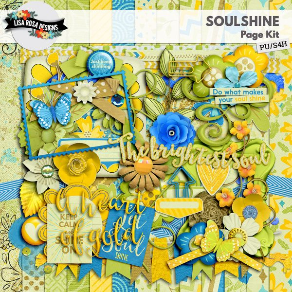 Soulshine Digital Scrapbooking Page Kit by Lisa Rosa Designs available at Digital Scrapbooking Studio