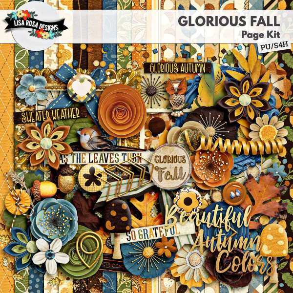All About Fall Digital Scrapbook by Lisa Rosa Designs