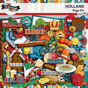 Holland Digital Scrapbook Page Kit by Lisa Rosa Designs