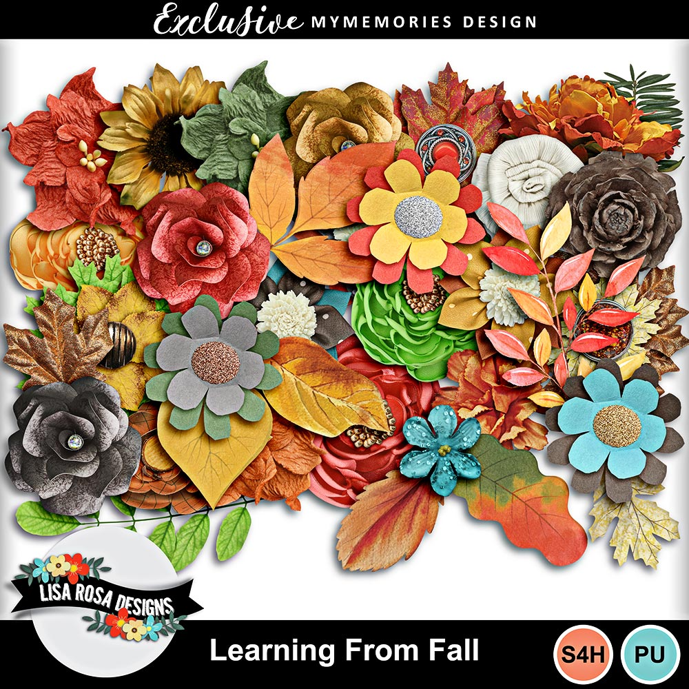Learning From Fall Digital Scrapbook Kit by Lisa Rosa Designs