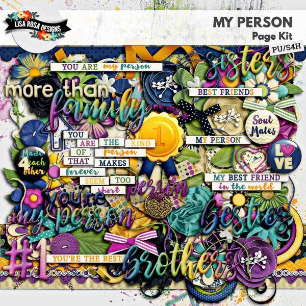 My Person Digital Scrapbook Page Kit by Lisa Rosa Designs