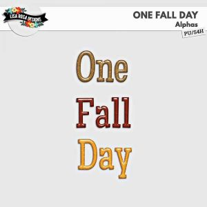 One Fall Day Digital Scrapbook Alpha by Lisa Rosa Designs