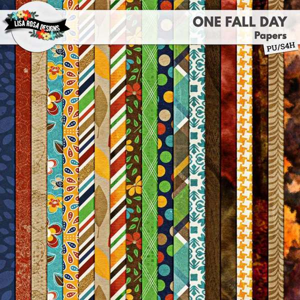 One Fall Day Digital Scrapbook Page Kit by Lisa Rosa Designs