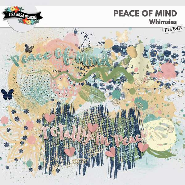 Peace of Mind Scrapbook by Lisa Rosa Designs