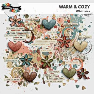 Warm and Cozy Digital Scrapbook Whimsies by Lisa Rosa Designs