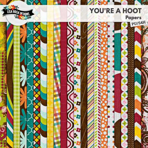 You're a Hoot Digital Scrapbook Page Kit by Lisa Rosa Designs