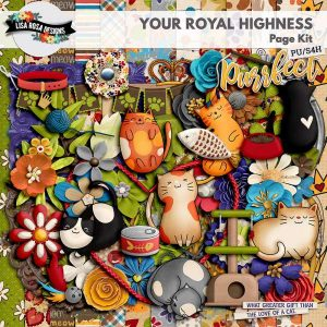Your Royal Highness Scrapbook Page Kit by Lisa Rosa Designs