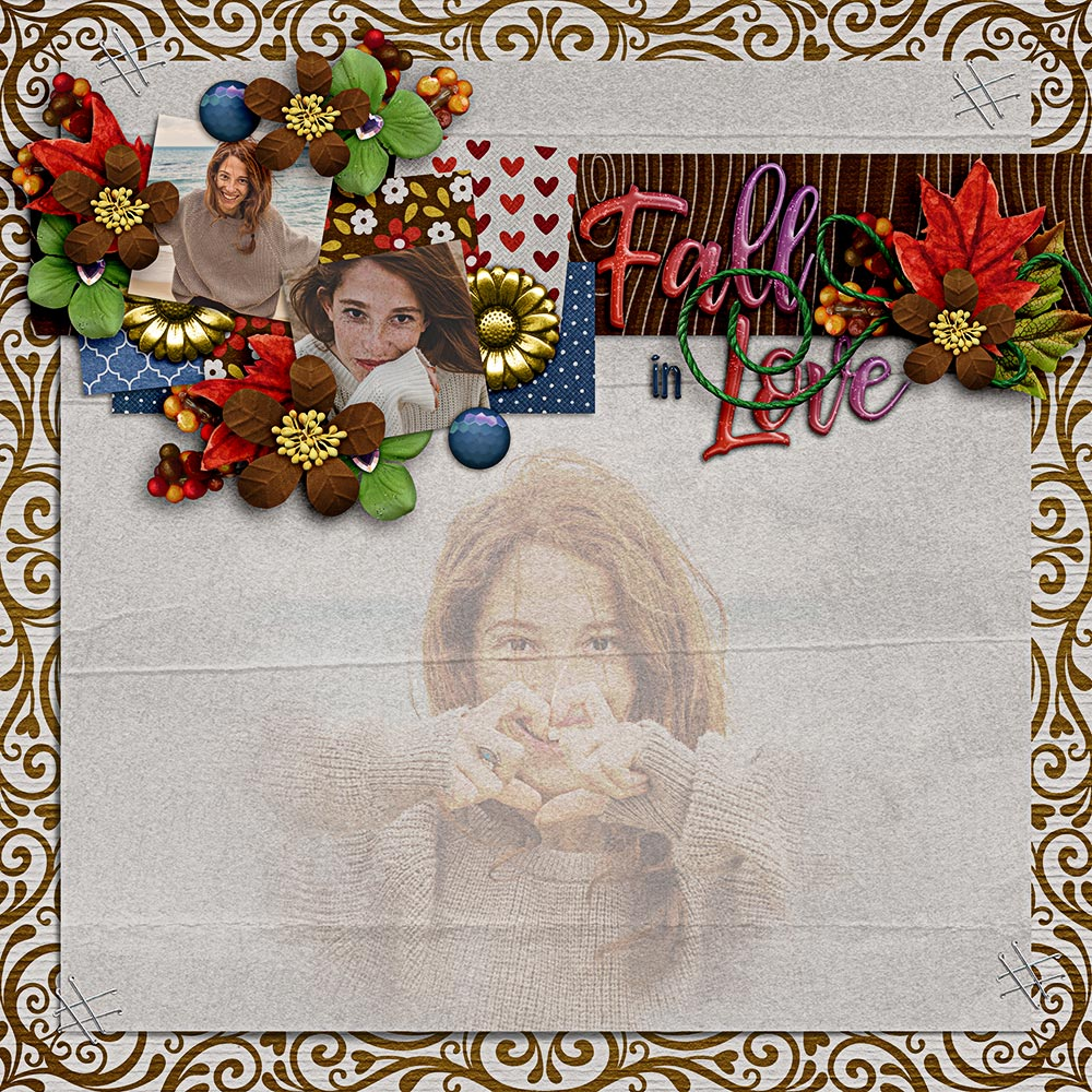 Fall in Love Digital Scrapbooking Kit by Lisa Rosa Designs