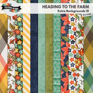 Heading to the Farm Extra Backgrouns III Digital Scrapbook Papers by Lisa Rosa Designs