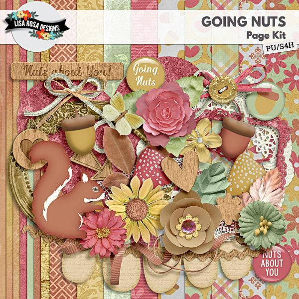 Going Nuts Digital Scrapbooking Kit by Lisa Rosa Designs