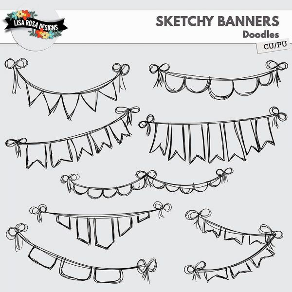 Sketchy Banners by Lisa Rosa Designs