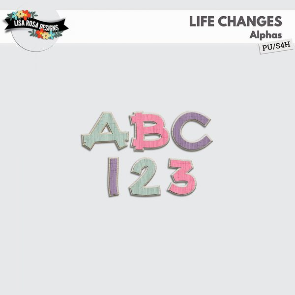 Life Changes Digital Scrapbooking Page Kit by Lisa Rosa Designs