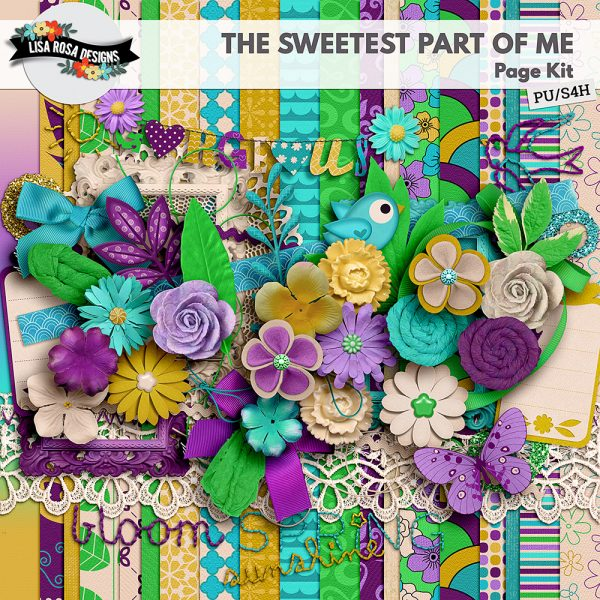 The Sweetest Part of Me Page Kit by Lisa Rosa Designs